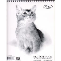 48 Units of Sketch Book, Poly Cover, 9x12, 20 Sheets in Display - Sketch, Tracing, Drawing & Doodle Pads