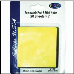 """60 Units of Peel & Stick Notes, 3""""x3"""", 50 Sheets Each, 7 Pk., Yellow - Sticky Note & Notepads"""