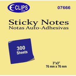 48 Units of Sticky notes, 300 sheets, yellow - Sticky Note & Notepads