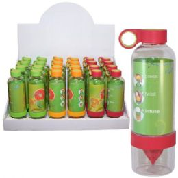 48 Units of Infuser Bottle 28oz With Squeeze Bottom - Drinking Water Bottle