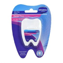 48 Units of Amoray Dental Floss 120 Yards - Personal Care Items