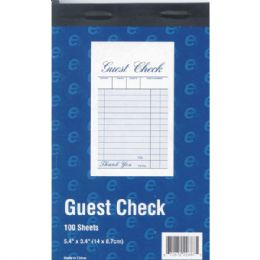 "60 Units of Guest Check Book - 5.4"" x 3.4"" - 100 sheets - Sales Order Book"