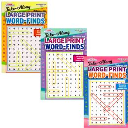 72 Units of Large Print Word Finds - Pocket Size - Crosswords, Dictionaries, Puzzle books