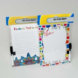 24 Units of Magnetic Dry Erase Board In 2ast Styles - Dry Erase