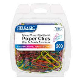 24 Units of No.1 Regular (33mm) Color Paper Clips (200/pack) - Clips and Fasteners