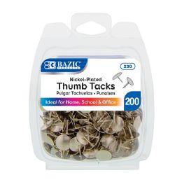 24 Units of Nickel (Silver) Thumb Tack (200/Pack) - Push Pins and Tacks