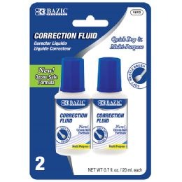 24 Units of 20ml / 0.7 fl. oz. Correction Fluid (2/Pack) - Correction Items