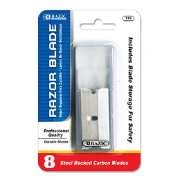 24 Units of Bazic Razor Replacement Blade With Tube (8/tube) - Box Cutters and Blades
