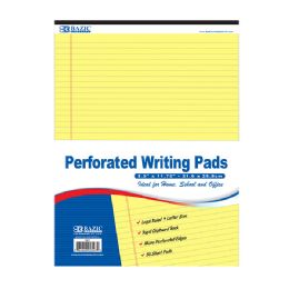 "48 Units of 50 Ct. 8.5"" X 11.75"" Canary Perforated Writing Pad - Paper"