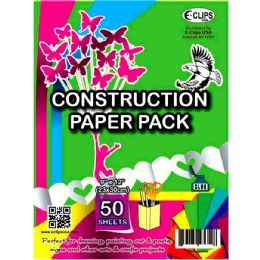 "48 Units of Construction Assorted Colors - 50 sheets/ pack-9"" x 12"" - Paper"