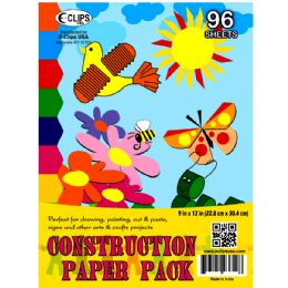 "36 Units of Construction Paper Pack - 96 sheets - 9"" x 12"" - Paper"