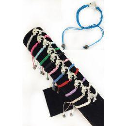 84 Units of Rhinestone Dolphin Braided Bracelet Adjustable Length - Bracelets