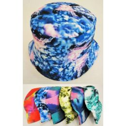 36 Units of Wholesale Tie Dye Color Bucket Hat Assorted Colors - Bucket Hats