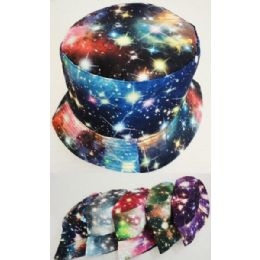 48 Units of Wholesale Space Star Effect Bucket Hat Assorted Colors - Bucket Hats