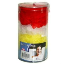 72 Units of 4pc Bath Sponge On Plastic Case 7x4 in - Shower Accessories