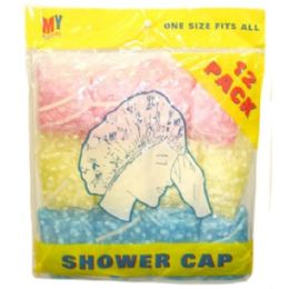 72 Units of 12 Piece Shower Caps - Shower Caps