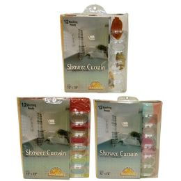 24 Units of Vinyl Shower Curtain Asst Design - Shower Curtain