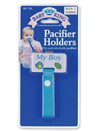 144 Units of Baby Pacifier Holder For Boys And Girls - Baby Accessories