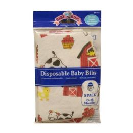 144 Units of Baby King Disposable Bibs - Baby Accessories
