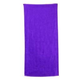 48 Units of Classic Solid Beach Towel - PURPLE - Beach Towels