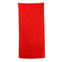 48 Units of Classic Solid Beach Towel - Red - Beach Towels