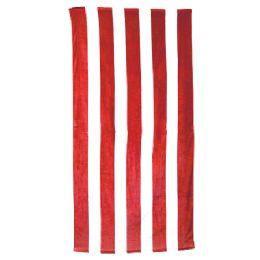 24 Units of Classic Cabana Stripe Beach Towel - Red - Beach Towels
