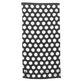 24 Units of Polka Dot Beach Towels - Black - Beach Towels