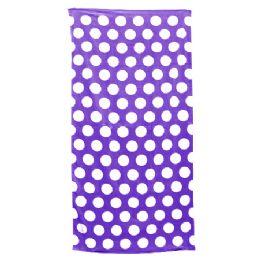 24 Units of Polka Dot Beach Towels - Purple - Beach Towels