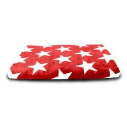 24 Units of 30X60 Beach Towel (Stars and Stripes - Red Stars) - Beach Towels