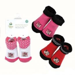 72 Units of Mickey And Minnie Baby Booties - Baby Apparel