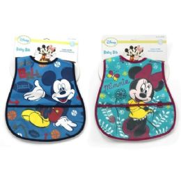 72 Units of Mickey Large Bib - Baby Accessories