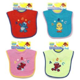 72 Units of Sesame Street Baby Bibs In Assorted Colors - Baby Accessories