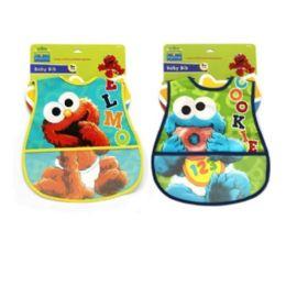 72 Units of Sesame Street PEVA Bib - Baby Accessories