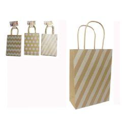 "96 Units of Kraft Bag 4pc 8.6x1.75x6.3"" - Bags Of All Types"
