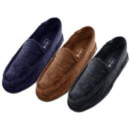 24 Units of Men Corduroy House Shoes - Men's Slippers