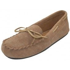 24 Units of Wholesale Women's Beige Leather Moccasins - Women's Slippers