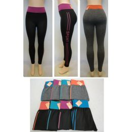 24 Units of Ladies Active Fitness Leggings [sport] - Womens Active Wear