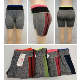 24 Units of Ladies Active Fitness Shorts [fishnet Sides] - Womens Active Wear