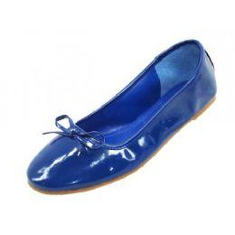 18 Units of Women's Patent Ballet Flats( Blue Color ) - Women's Flats