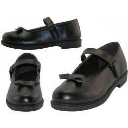 24 Units of Big Girls Mary Janes Black School Shoe - Girls Shoes