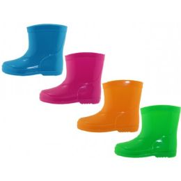 24 Units of Toddler's Water Proof Rubber Rain Boot - Toddler Footwear