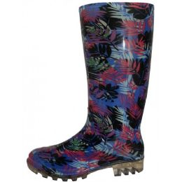 12 Units of Women's 13.5 Inches Water Proof Rubber Rain Boots - Women's Boots
