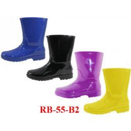 24 Units of Wholesale Children's Rain Boots - Girls Boots