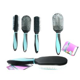 96 Units of Blue Hair Brush - Hair Brushes & Combs