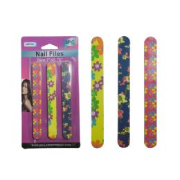 """144 Units of 3pc Nail Files 7""""x0.75"""" - Personal Care Items"""