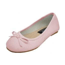 18 Units of Toddler's Ballerina Flat Shoe Pink Color Only - Toddler Footwear
