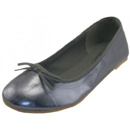 18 Units of Women's Ballet Flats ( Pewter Color Only) - Women's Flats