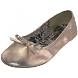 18 Units of Women's Ballet Flats ( MetallicPink Color Only) - Women's Flats