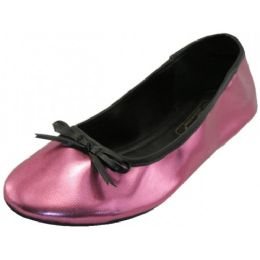 18 Units of Women's Ballet Flats ( Metallic Fuchsia  Color Only) - Women's Flats