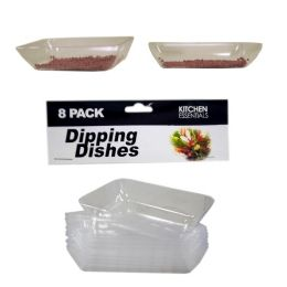 144 Units of 8 Piece Mini Dipping Dishes - Party Paper Goods